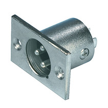Connector XLR 3-Pin Male Zilver