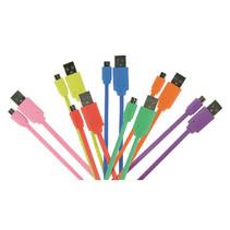 USB 2.0 Kabel USB A Male - Micro-B Male Plat 1.00 m Rood