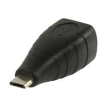 USB 2.0-Adapter Micro-B Male - B Female Zwart