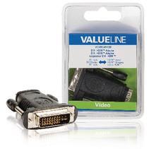High Speed HDMI met Ethernet Adapter DVI-D 24+1-Pins Male - HDMI Female Zwart