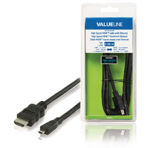 High Speed HDMI kabel met Ethernet HDMI-Connector - HDMI Micro-Connector Male 2.00 m Zwart