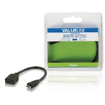 High Speed HDMI kabel met Ethernet HDMI Mini-Connector Male - HDMI Female 0.20 m Zwart