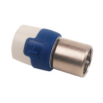 F-Connector 7 mm Male Wit/Blauw
