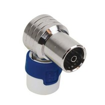 Coaxconnector 16 mm Female Zilver/Blauw