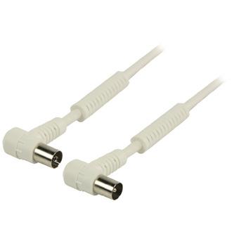 Valueline 120 dB Coaxkabel Haaks Coax Male (IEC) - Coax Female (IEC) 5.00 m Wit