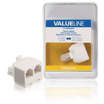 Telecom-Adapter RJ11 (4/6) Male - 2x RJ11 (4/6) Female Wit