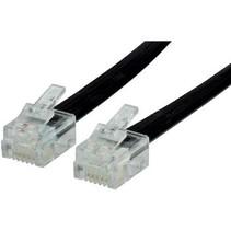 Telecomkabel RJ12 (6P6C) Male - RJ12 (6P6C) Male 1.00 m Zwart