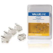 Telecomconnector RJ11 Male Transparant