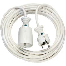 Verlengkabel 5.00 m H05VV-F 3G1.5 IP20 Wit