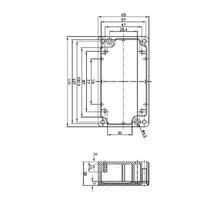 Electriciteit Behuizing Aluminium Legering Aluminium 115 x 65 x 30 mm