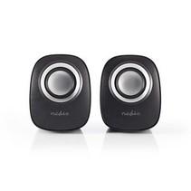 PC-Speaker   2.0   12 W   3,5 mm Jack   Zwart/Zilver