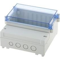 PCB Enclosure DIN rail 185 x 213 x 104.5 mm ABS / PC
