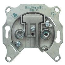 Antenne Wandcontactdoos Doorvoer 1.0 dB 2 Zilver