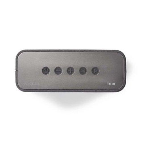 Nedis Luidspreker met Bluetooth®   2x 45 W   True Wireless Stereo (TWS)   Waterbestendig   Grijs