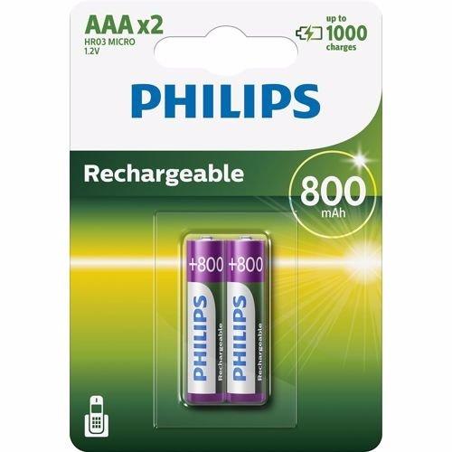 Philips AAA Micro Penlite 800 mAh, 2 stuks Philips