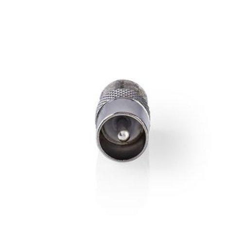 Nedis Satelliet- en antenne-adapter | Coax male - F female | 10 stuks | Metaal