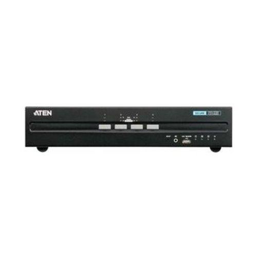 Aten 4-Poorts KVM Switch DVI / USB Zwart