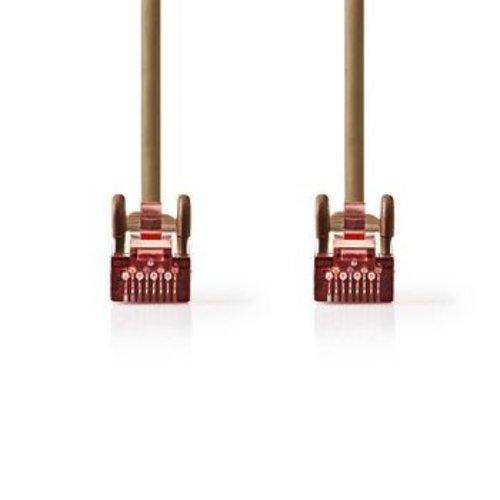 Nedis CAT6 S/FTP-Netwerkkabel | RJ45 Male - RJ45 Male | 0,25 m | Bruin