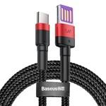 Baseus USB kabel - USB-C 40W - 5A - Super charge 1 meter Rood/Zwart