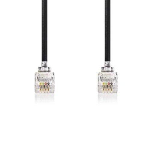 Nedis Netwerkkabel   RJ10 male - RJ10 male   2,0 m   Zwart
