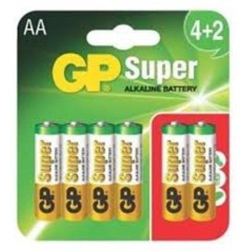 GP 6 x Penlite AA Super Alkaline GP
