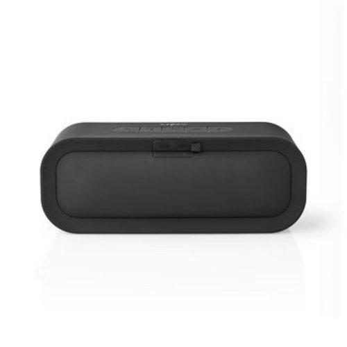 Nedis Bluetooth®-Speaker met Geweven Stof Bekleed | 30 W | Tot 6 Uur Speeltijd | Waterdicht | Grijs / Zwart