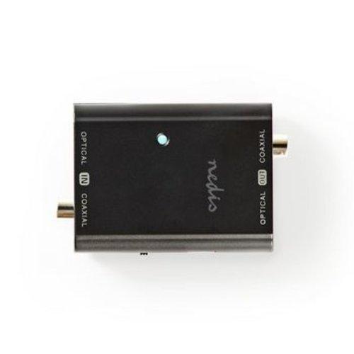 Nedis Digitale Audioconverter | 2-wegs | Input: 1x S/PDIF (RCA) Female / 1x TosLink Female | Output: 1x S/PDIF (RCA) Female / 1x TosLink Female | Manueel | Antraciet