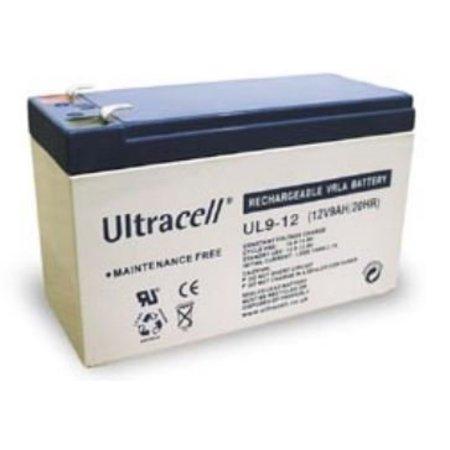Ultracell 12V, 9 Ah Loodaccu UltraCell UL9-12 151x65x94mm