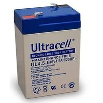 6V, 4,5 Ah Loodaccu UltraCell UL4.5-6