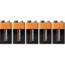 9 Volt Alkaline Duracell - 5 Stuks