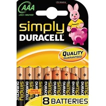 8 x AAA Mini penlite alkaline Simply duracell