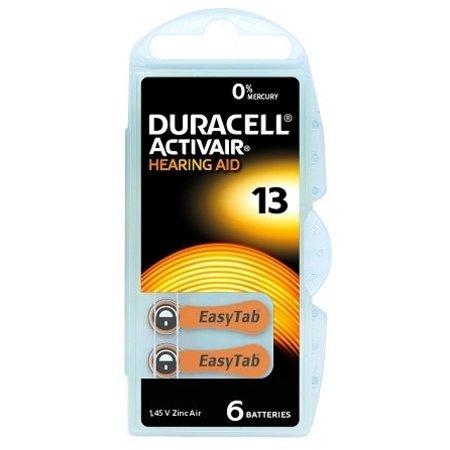 Duracell hoorbatterijen Type 13 PR48 Oranje 6 stuks - Duracell