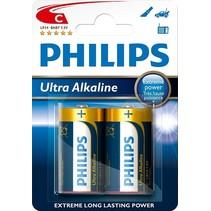 C Ultra alkaline batterij LR14 - 2 Stuks - Philips