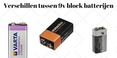 Grote verschillen tussen 9V block batterijen