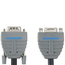 VGA Verlengkabel VGA Male - VGA Female 15-Pins 5.00 m Blauw