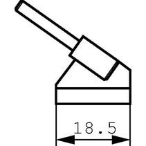 Tweezer Soldering Tip Pair 18.5 mm PU=2 ST