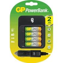 Powerbank PB550 Lader inc 4 x 2600mAH AA GP
