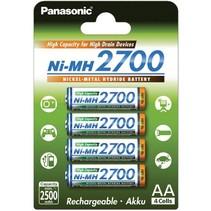 Penlite AA oplaadbaar 2700mAh 4 stuks Panasonic