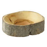 Desert Rose Natural bark olive wood bowl - 12 cm