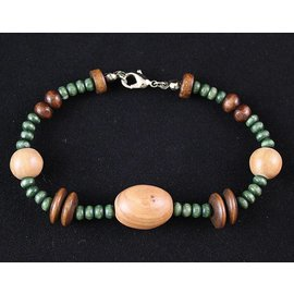 Desert Rose Armband-houten-kralen-groen