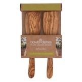 Pure olivewood Olijfhouten spatelset 2delig 25cm recht