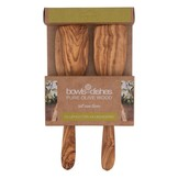 Pure olivewood Olive wood set of 2 spatulas - 25cm straight