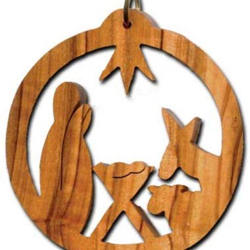 Desert Rose Ornament - holy family in circle