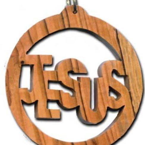 Desert Rose Ornament - Jesus written in circle