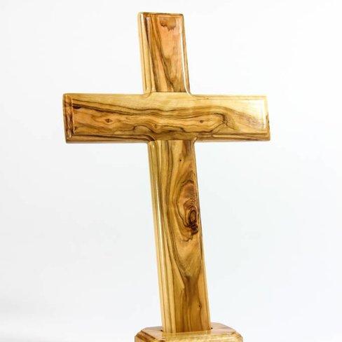 Desert Rose Cross on stand