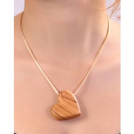 Desert Rose Ketting houten hartje