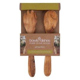 Pure olivewood Olive wood salad servers