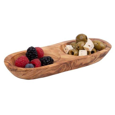 Bowls & Dishes Olijfhouten borrelduo recht