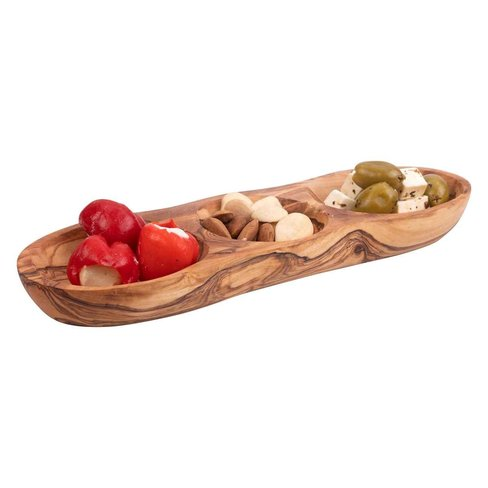 Bowls & Dishes Olive wood drink trio straight