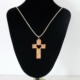 Desert Rose Necklace with olive wood cross